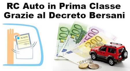 Assicurazione con legge Bersani