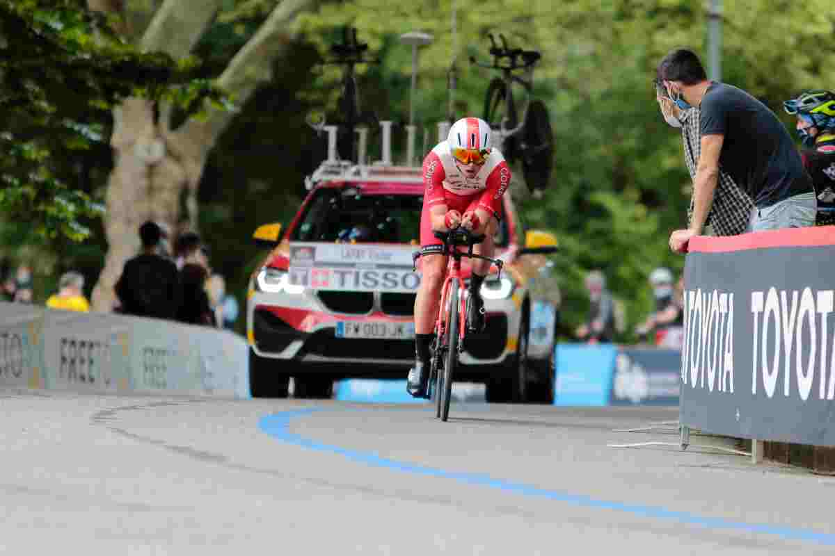 Lafay vince l'ottava tappa al Giro, Valter resta in rosa