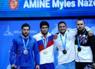 Myles Amine sul podio ai Giochi Europei di Minsk 2019