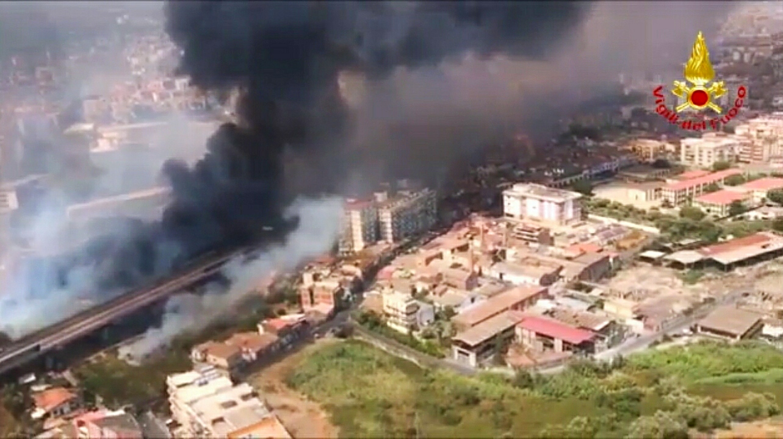Sicilia in fiamme. Incendi a Palermo, Messina e Catania