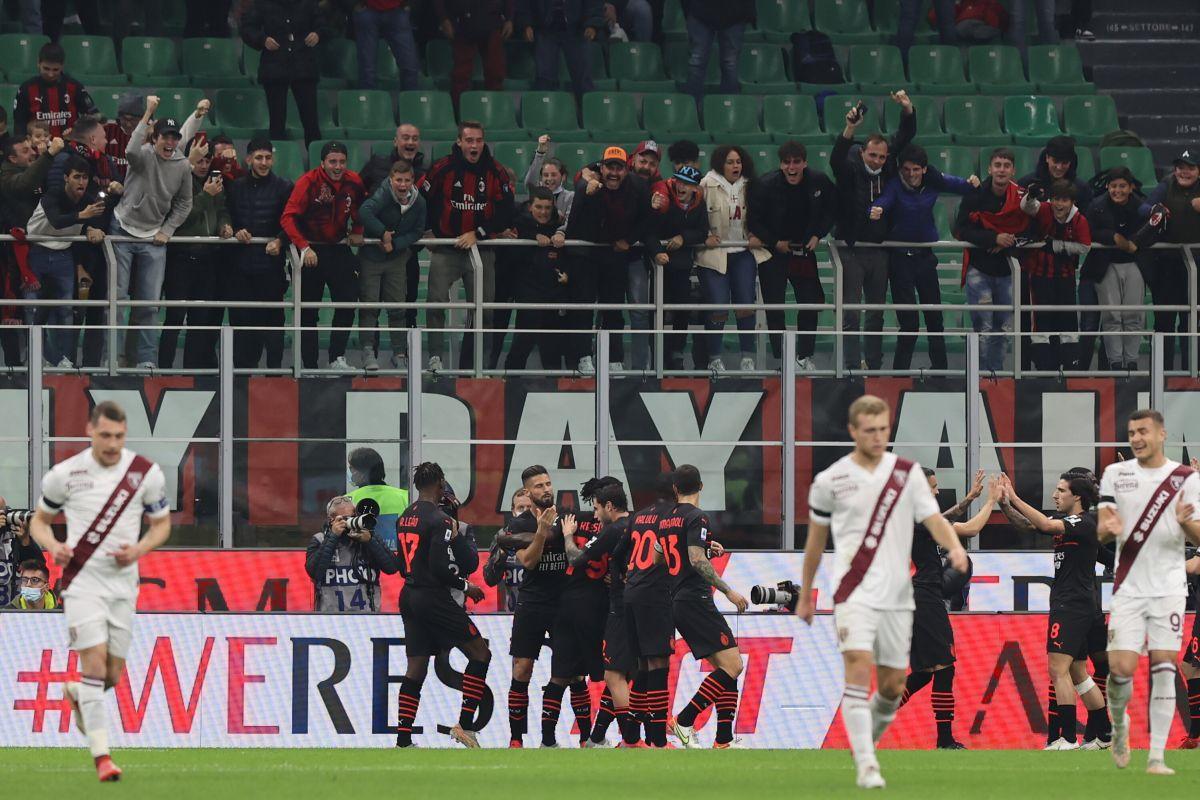 Giroud piega il Toro, Milan in testa aspettando il Napoli